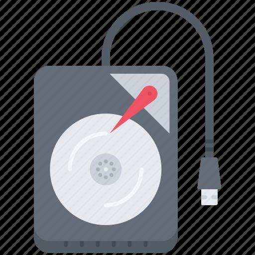 Computer, data, disk, external, hard, information, technology icon - Download on Iconfinder