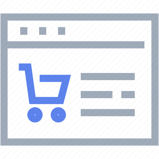 browser, commercial, e-commerce, internet, shopping, web icon