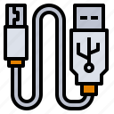 accessory, cable, computer, connect, usb icon