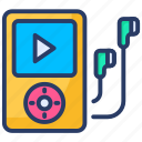 mp3, mp4, multimedia, music, music player, player, walkman icon