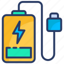 bank, battery, charge, power, power bank, usb, workday icon