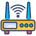 internet, network, online, router, technology, web, wifi icon