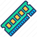 card, chip, computer, hardware, memory, ram, technology icon