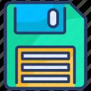 disk, diskette, down, floppy, floppy disk, left, save