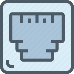 computer, connect, connector, hardware icon