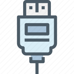 cable, computer, connector, hardware, usb icon