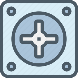 computer, cooler, fan, hardware icon
