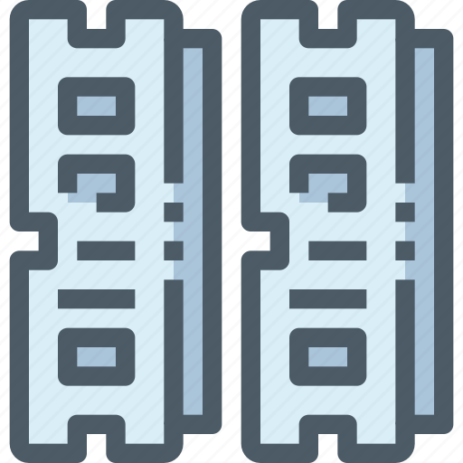 computer, hardware, ram, technology icon