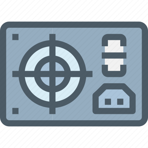computer, hardware, power, technology icon