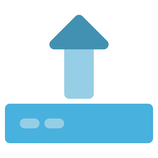arrow, computer, disk, hardware, upload icon