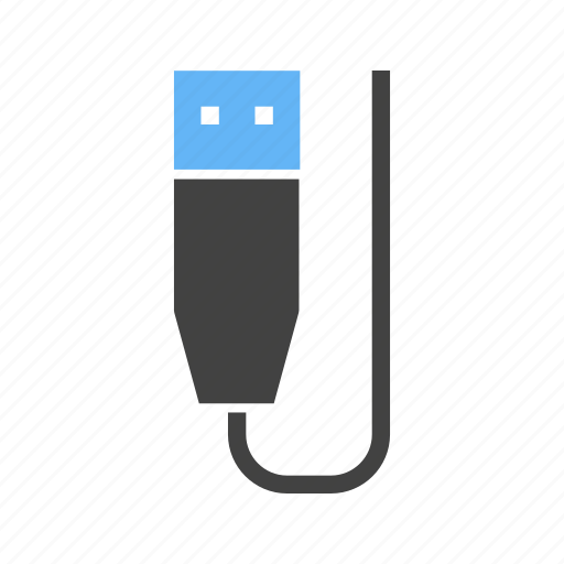 cable, device, flash drive, hardware, storage device, usb, wire icon