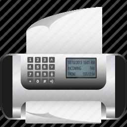 accessoires, computer, copy, fax, output, paper, print icon