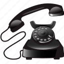 cable, call, communication, old, telephone icon