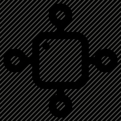 connection, data, internet, proccesor icon