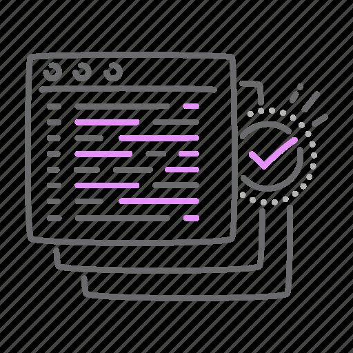 checked, code, develop, final, program, soft icon