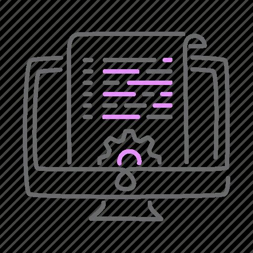 code, cog, development, mac, options, settings icon