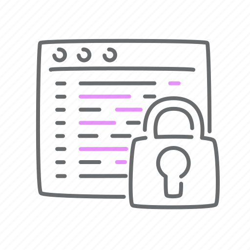 Code, data, locked, protected, soft icon - Download on Iconfinder