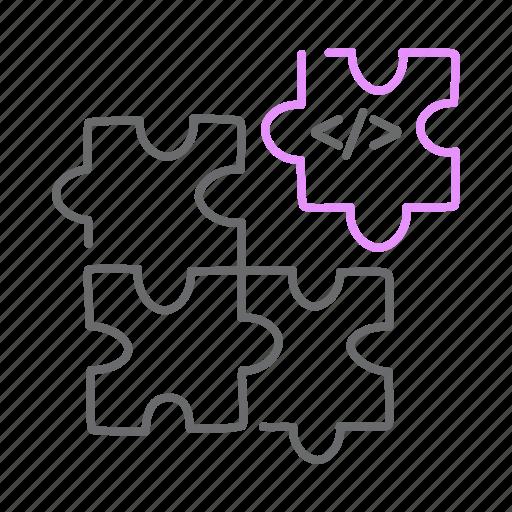 coding, create, design, html, piece, puzzle icon