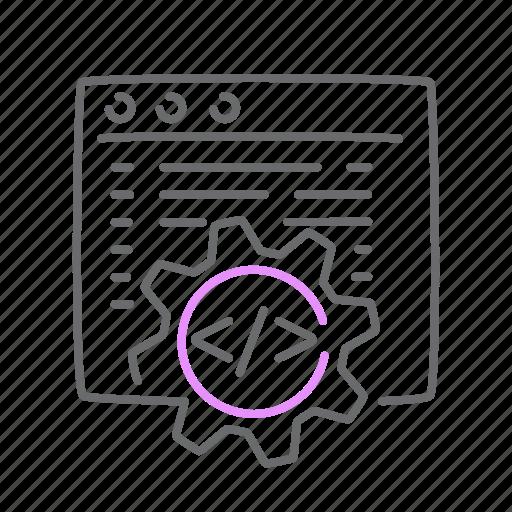 coding, development, programming, quality, website icon