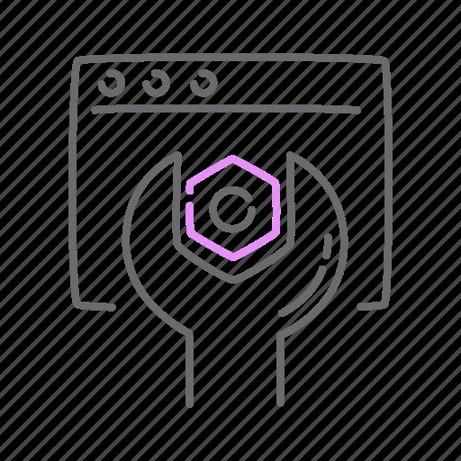 code, cog, concentrate, configuration, settings, tweak icon