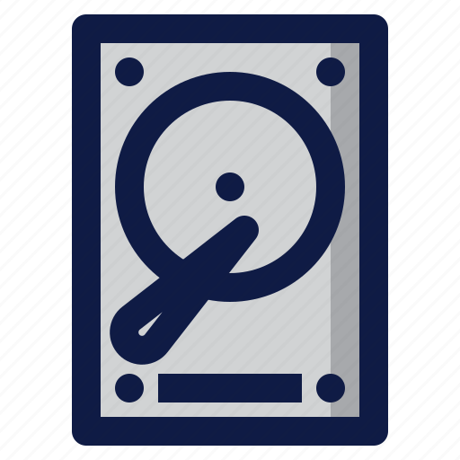 component, computer, disk, drive, hard, hdd icon