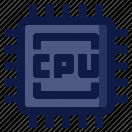 Chip, computer, component, cpu, processor icon