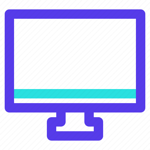 component, computer, electronic, hardware, monitor, technology icon
