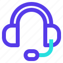 communication, earphones, headphones, headset, sound, support icon