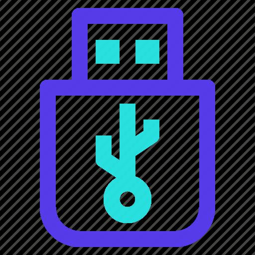 component, computer, data, drive, flashdisk, usb icon