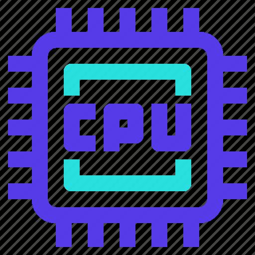 chip, component, computer, cpu, processor icon