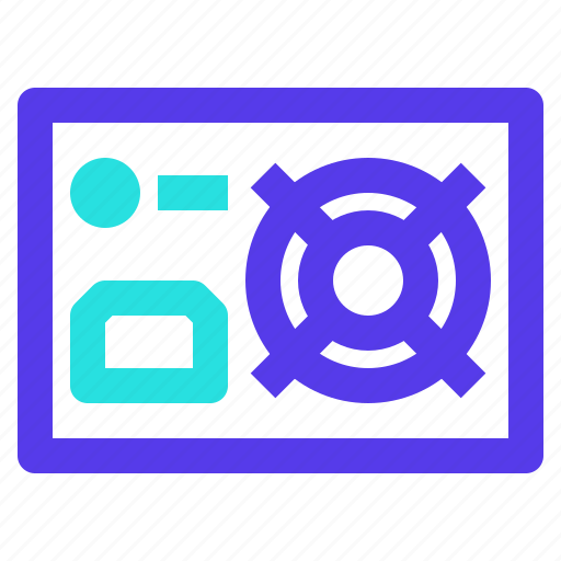 Component, computer, electronic, energy, power, supply icon - Download on Iconfinder