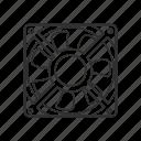 copmuter device, fan