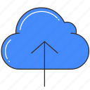 cloud, cloud storage, data, database, storage, upload icon