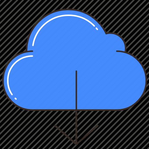 cloud, cloud storage, data, database, download, storage icon