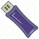data, database, file, memory, pendrive, storage, usb drive icon