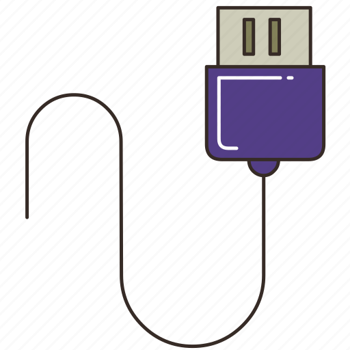 cable, connector, data cable, pin, plug, usb, usb cable icon
