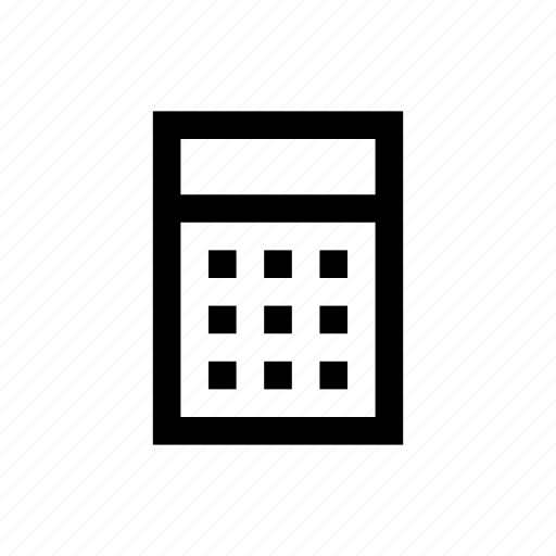calculator, device, electronics, gadget icon