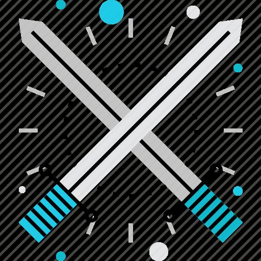 challenge, duel, fight, fighting, swords, versus, vs icon