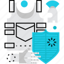 shield, armor, armour, soldier, guard, protection, security icon