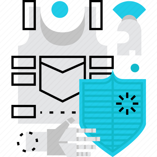 armor, armour, guard, protection, security, shield, soldier icon