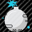 bomb, boom, countdown, defuse, explosion, explosive, timer icon