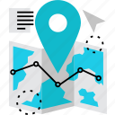guide, location, map, navigation, positioning, route, tourism icon