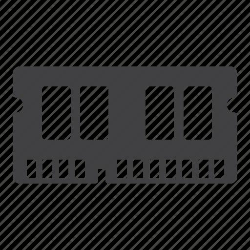 computer, hardware, memory, ram icon