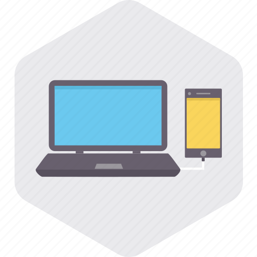 computer, connect, device, internet, laptop, mobile, smartphone icon