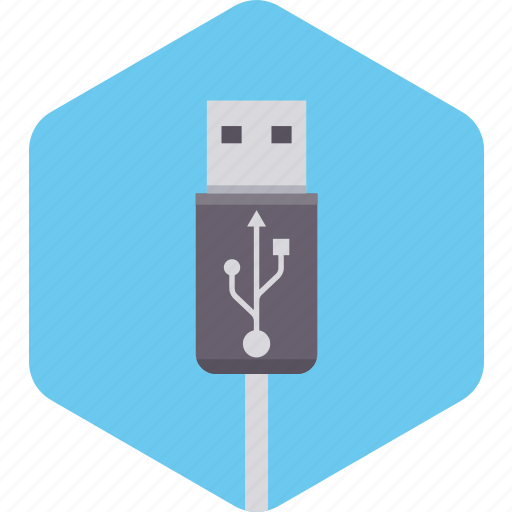 cable, file, folder, memory, storage, usb icon