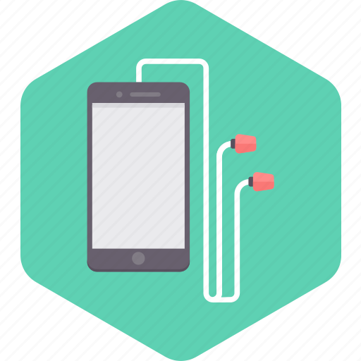 connect, earphones, mobile, music, phone, sound icon