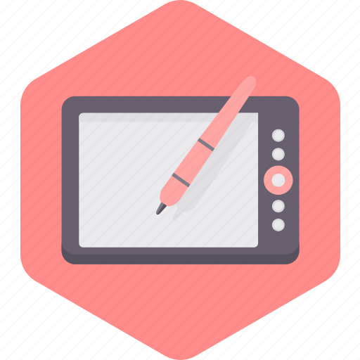 ipad, pen, screen, tablet, technology icon