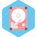 computer, data, disk, hard, hardware, technology icon