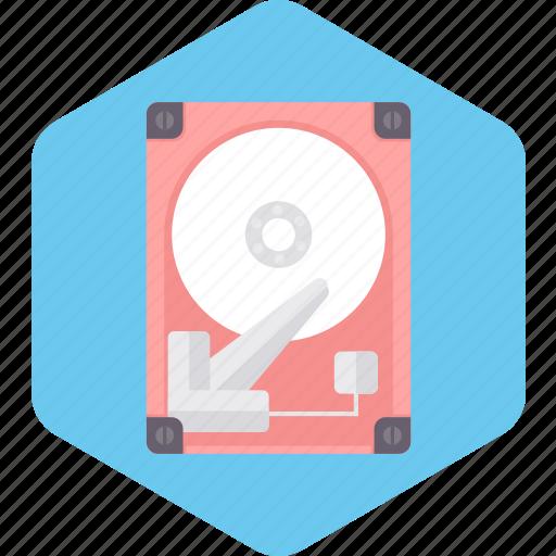 computer, data, disk, hard, hardware, technology icon