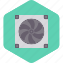 computer, cpu, device, fan, technology icon